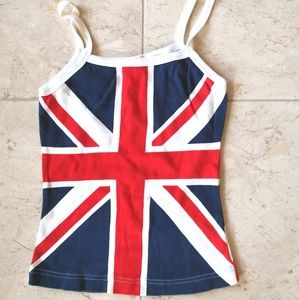 Union Jack British Flag camisole t-shirt tank top